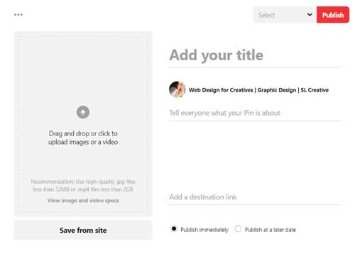 How to post a pin on Pinterest